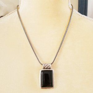 Jewelry - Vintage 925 Sterling Silver Onyx Necklace